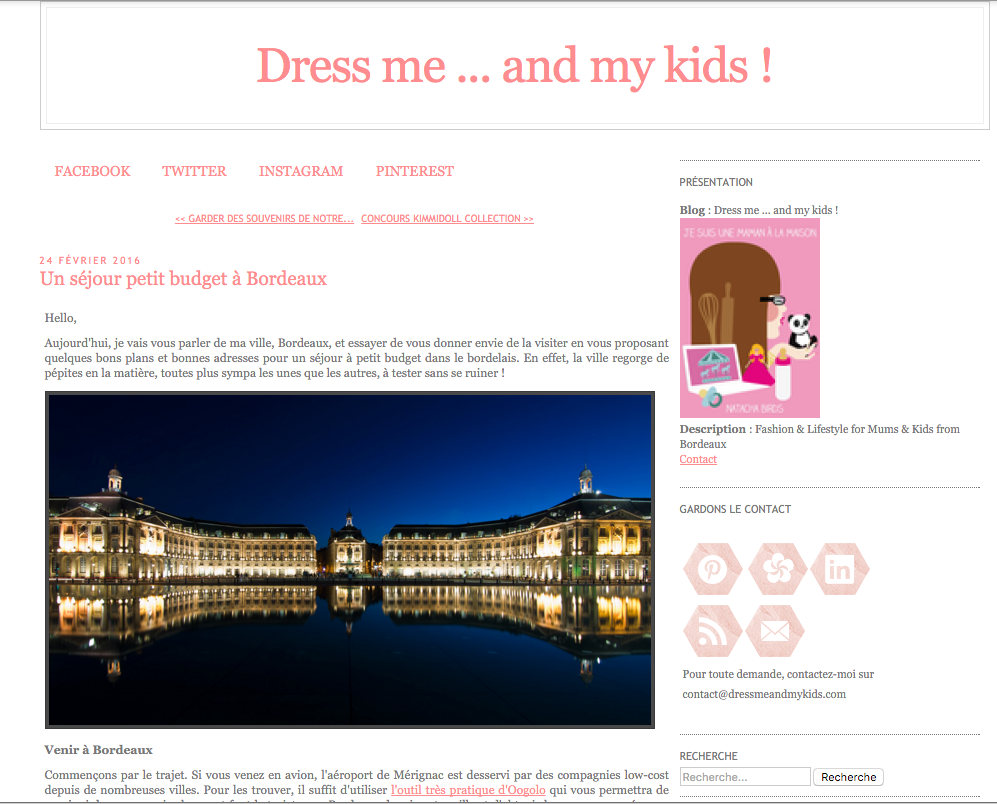 Interview de Dress me and my kids