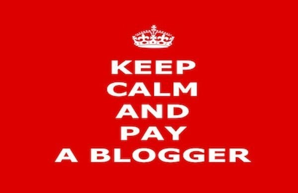 Why we have to pay bloggers