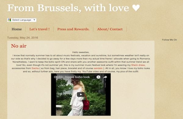 Interview From Brussels With Love