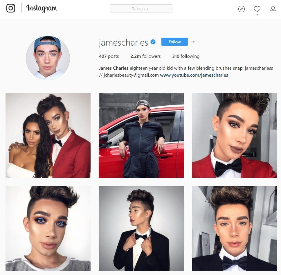 instagram jamescharles influencer marketing upfluence