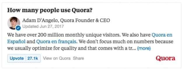 quora content marketing strategy