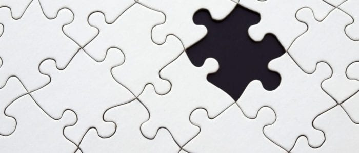 Image of white jigsaw with missing piece - Influencer marketing