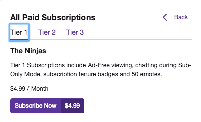 Subscriptions Twitch