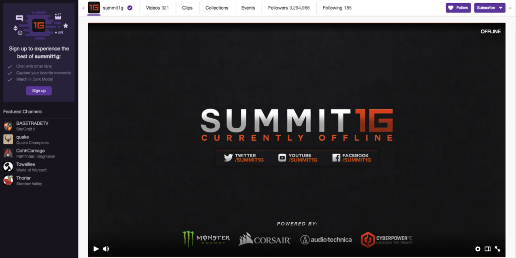 summit1g Twitch Streamer