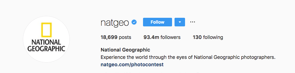 Instagram National Geographic - Upfluence