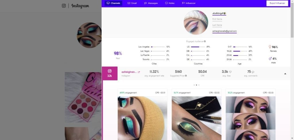 25 Beauty Instagram Micro-Influencers to Follow in 2019 - Beauty influencer Ashleigh Renelle