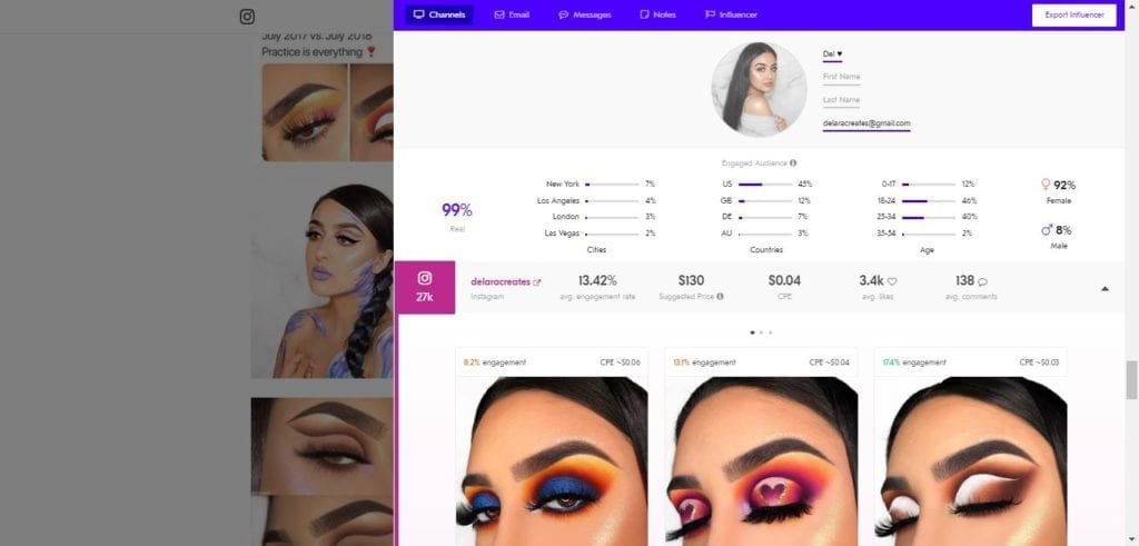 25 Beauty Instagram Micro-Influencers to Follow in 2019 - Beauty influencer Delara Creates