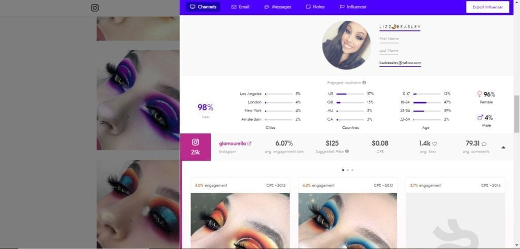 25 Beauty Instagram Micro-Influencers to Follow in 2019 - Beauty influencer Lizzie Beasley
