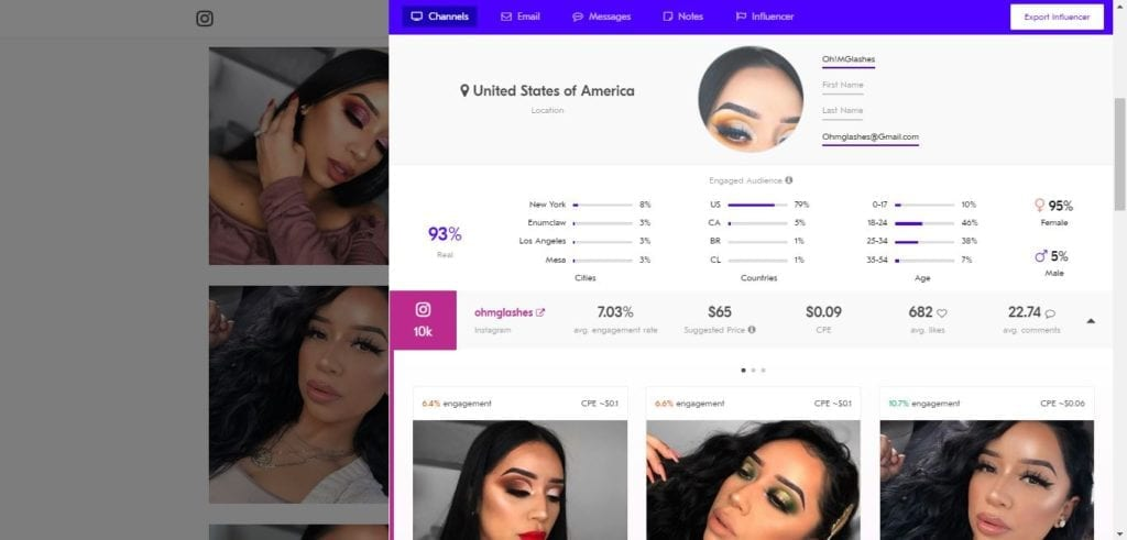 25 Beauty Instagram Micro-Influencers to Follow in 2019 - Beauty influencer Oh!MGlashes