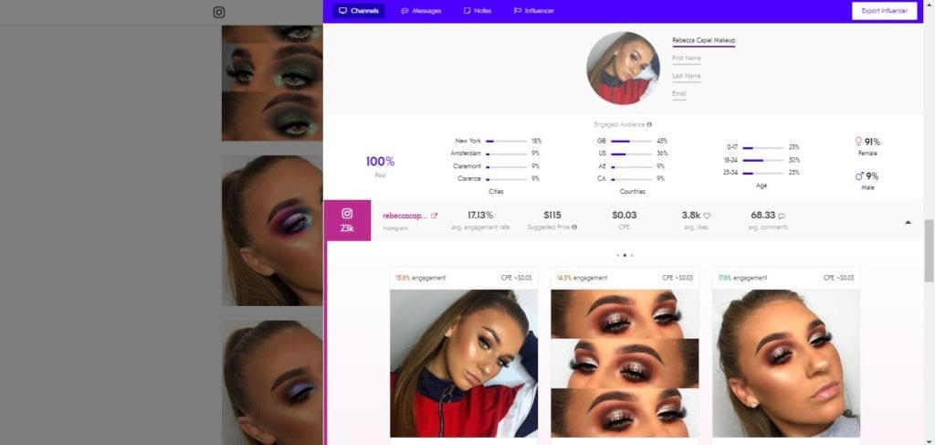 25 Beauty Instagram Micro-Influencers to Follow in 2019 - Beauty influencer Rebecca Capel