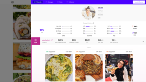 Alexa Soto food influencer instagram as alexafulednaturally in Upfluence software