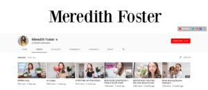Beauty Influencer profile Meredith Foster Top Beauty YouTubers 2019