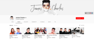 Beauty Influencer James Charles Top Beauty YouTubers 2019