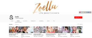 Beauty Influencer Zoe Sugg Top Beauty YouTubers 2019 Zoella