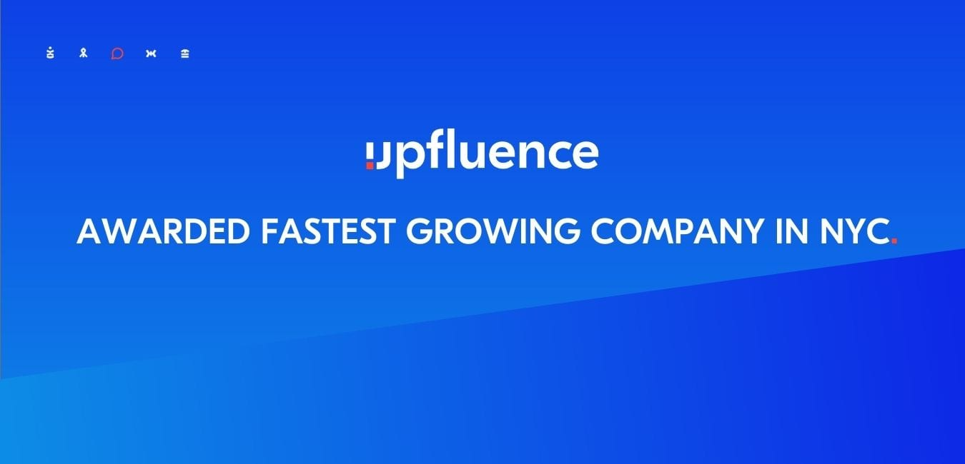 Upfluence Named in Growjo's Top 500 Fastest Growing Companies in New York City Awards