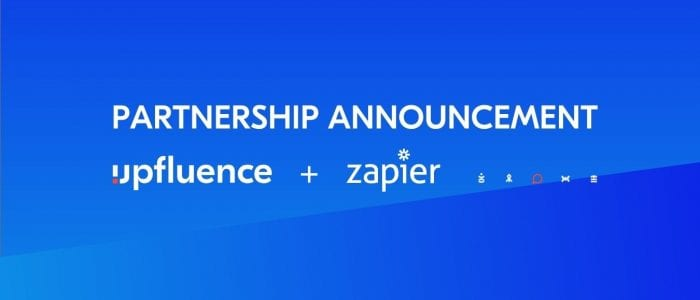 PARTNERSHIP ANNOUNCEMENT_UPFLUENCE_ZAPIER
