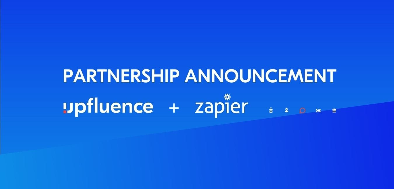Read more about the article Upfluence Partners with Automation Giant Zapier to Offer Brands Unprecedented Automatic Influencer Discovery within 3,000+ Popular Software Platforms